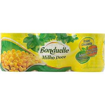 Bonduelle Maíz dulce en grano neto escurrido Pack 3 latas 140 g