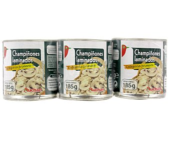 Auchan Champiñones Laminados Pack 3 Unidades de 105 Gramos
