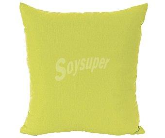 Auchan Funda de cojín color verde pistacho con cierre cremallera, 40x40 centímetros 1 unidad