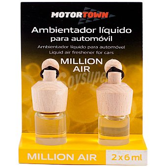 MOTORTOWN Ambientador líquido para automóvil aroma million air pack 2x6 ml Pack 2x6 ml