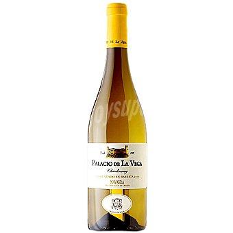 PALACIO DE LA VEGA Vino blanco chardonnay fermentado en barrica D.O. Navarra Botella 75 cl