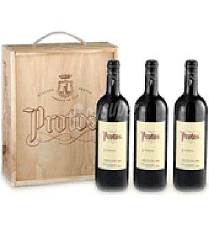 Protos Estuche madera con 3 botellas de vino D.O. Ribera del Duero 75 cl