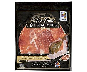 AIRE SANO 8 Estaciones Jamón curado con denominación de origen Teruel y cortado a cuchillo 80 g