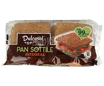 Dulcesol Pan sándwich integral sottile 8 uds. 310 g