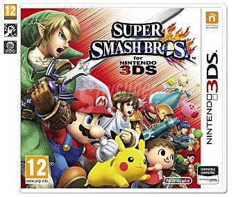 LUCHA Videojuego Super Smash Bros para Nintendo 3DS y 3DSXL, Género: Acción. Clasificación por edad pegi: +12 - 1 Unidad 1u