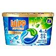 Discs detergente máquina líquido limpieza profunda 4 en 1 caja 10 dosis Wipp Express