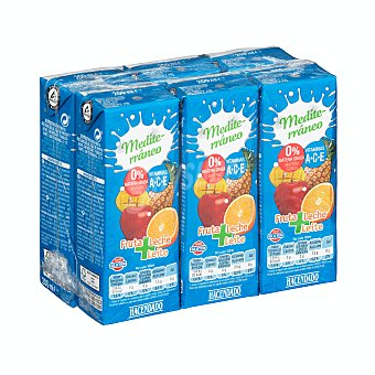 Hacendado Frutas+leche mediterraneo (brick azul) 6 x 200 ml