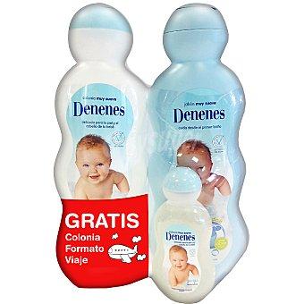 Denenes gel de baño suave + colonia suave botella 650 ml + colonia formato viaje gratis botella 750 ml