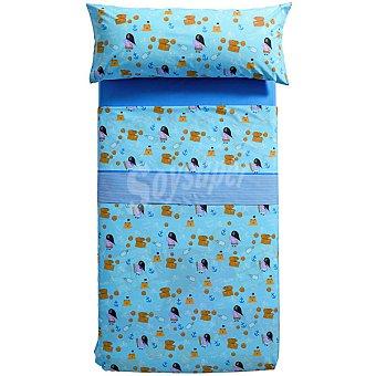 PEPPA PIG Tesoro Juego de cama estampado en color azul para cama 90 cm