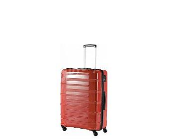 AIRPORT Maleta de 68cm, con 4 ruedas y estructura rígida de ABS de color rojo, airport