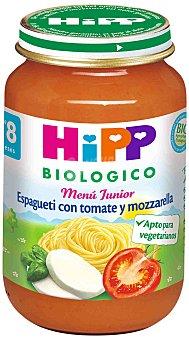 HiPP Biológico Tarrito de espagueti con tomate y mozzarella Biológico 190 g