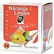 Té naranja-limon 14 piramides Tealand