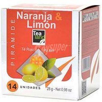 Tealand Té naranja-limon 14 piramides