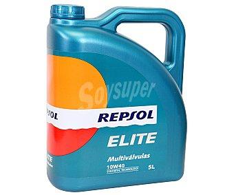 REPSOL Lubricante sintético para vehículos gasolina y diesel, Elite Multiválvulas 5 Litros