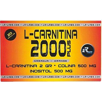 RL LABS L-Carnitina 2000 Plus sabor naranja viales  envase 20 unidades