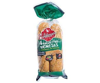 La Boulangere Pan baguettes vienesas con cereales 4 uds