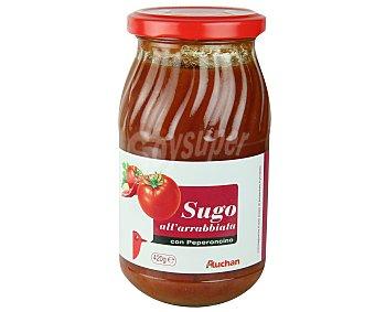 Auchan Salsa Italiana de tomate picante 420 gramos