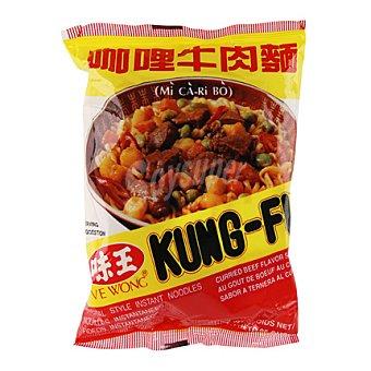 Kung-fu Fideos Instantáneos Sabor Ternera y Curry Bolsa 85 Gramos