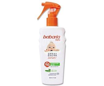 BABARIA Sun Spray solar infantil, protección solar alta FP-50, con Aloe 150 Mililitros
