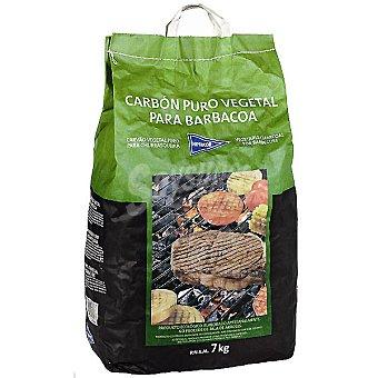 HIPERCOR Carbón Puro vegetal para barbacoa bolsa 7 kg Bolsa 7 kg