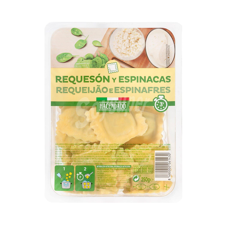 Hacendado Pasta Fresca Ravioli Requeson Y Espinacas Tarrina 250 G