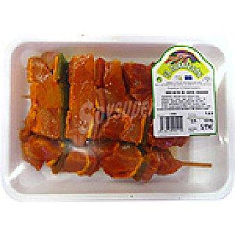 EL CUARTERON Brocheta de cerdo adobada peso aproximado Bandeja 550 g