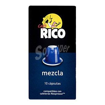 Rico Café mezcla en cápsulas 10 ud
