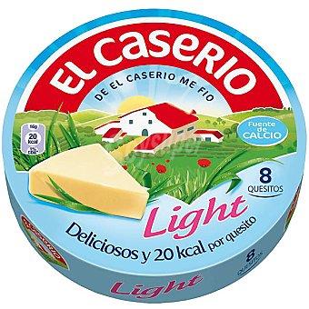 El Caserío Queso ligero con calcio 8 porciones Caja 125 g
