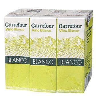 Carrefour Vino blanco minibrik Pack 3x20 cl