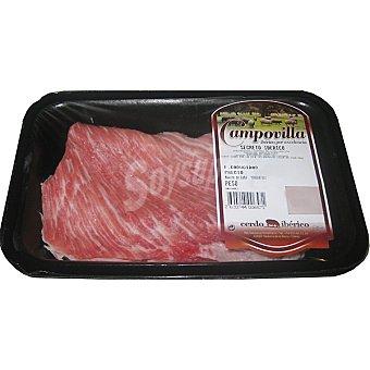 CAMPOVILLA Secretos frescos de cerdo ibérico peso aproximado Bandeja 400 g