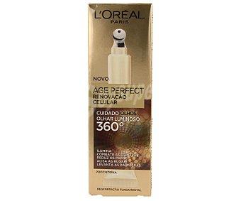 L'Oréal Contorno de ojos antiedad (reduce las ojeras, disminuyen las bolsas y se atenúan las arrugas) 15 mililitros
