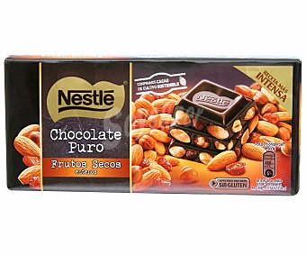 Nestlé Chocolate negro con frutos secos Tableta 200 g