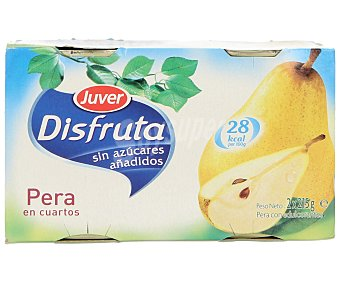 Juver Disfruta Pera en cuartos con edulcorantes 2 unidades de 125 gramos