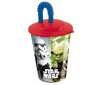 Star Wars Vaso con tapa y pajita, diseño Star Wars, 0,43 litros de capacidad 1 unidad