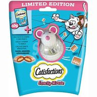 Catisfactions Snacky Mouse para gato Paquete 60 g