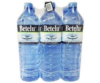 Betelu Agua Mineral sin Gas Caja de 6 Unidades
