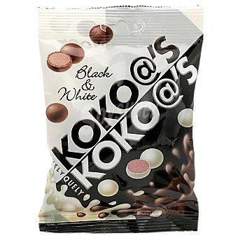 Quely Koko@s Black & White bolitas de galletas bañadas con chocolate blanco o negro bolsa 70 g Bolsa 70 g