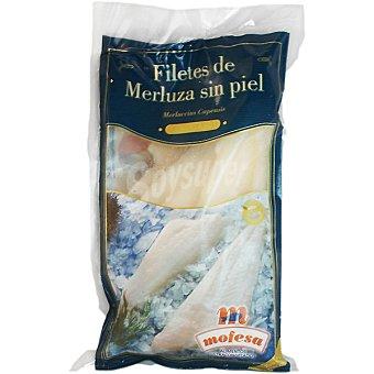 MOFESA Filetes de merluza sin piel Bolsa 400 g neto escurrido