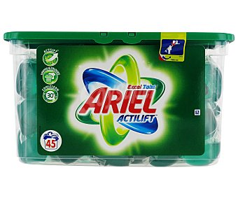ARIEL EXCEL Detergente Cápsulas Tabs Regular Cápsulas 45c