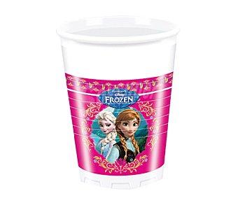 Disney Vasos desechables de plástico con diseño Frozen, 20 centilitros de capacidad Pack de 8 unidades