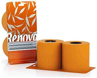 Renova Papel higiénico naranja Paquete 2 rollos