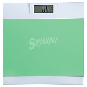 Báscula de baño electrónica en color verde 1 Unidad