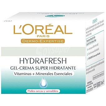 Hydrafresh L'Oréal Paris gel crema hidratante piel seca / sensible Tarro 50 ml