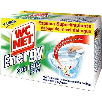WC Net Desinfectante WC en polvo con lejía espuma autolimpiante Energy Caja 4 unidades