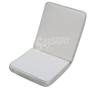Auchan Cojín para silla multiposición de color blanco, desenfundable y de 88x42x6 centímetros 1 unidad