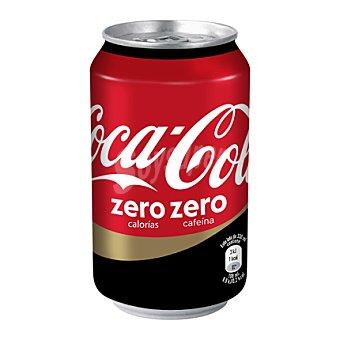 Coca-Cola Zero Refresco de cola sin cafeína zero azúcares Lata de 33 cl