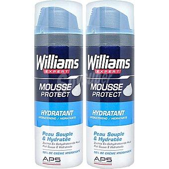 Williams Expert espuma de afeitar hidratante Pack 2 spray 200 ml