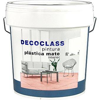 DECOCLASS Pintura plástica mate para interior color blanco 4 l