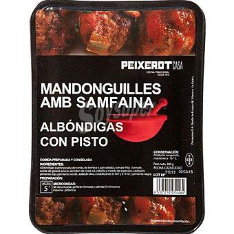 Peixerot Albóndigas con pisto Bandeja 300 g