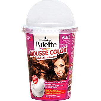 Schwarzkopf Palette tinte nº 6.65 Rubio Oscuro Dorado coloración Mousse Color permanente brillo intenso envase 1 unidad con perfume afrutado Envase 1 unidad